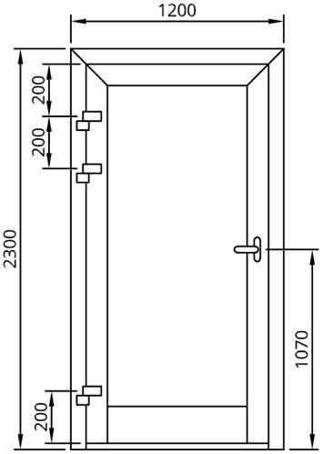 Maximálne rozmery jednokrídlových hliníkových dverí Aluprof MB-86SI