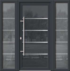 Hliníkové dvere Evolution EV-950-A1 so svetlíkom