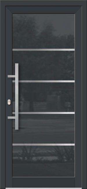Hliníkové dvere so sklo-hliníkovou výplňou Evolution EV-950