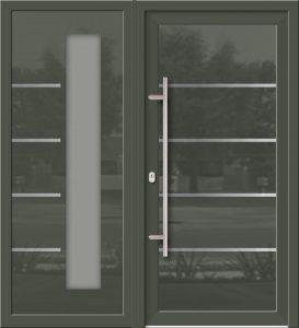 Hliníkové dvere Evolution EV-950-A2 so svetlíkom