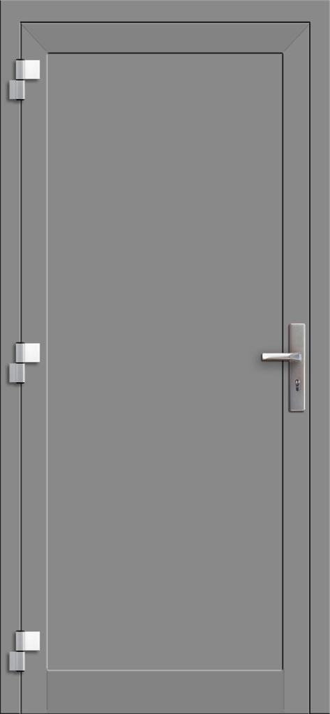 Hliníkové dvere so sklo-hliníkovou výplňou Evolution EV-952 (interiérový pohľad)