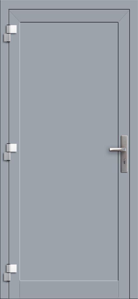 Hliníkové dvere so sklo-hliníkovou výplňou Evolution EV-953 (interiérový pohľad)