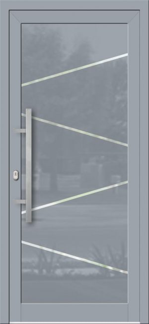 Hliníkové dvere so sklo-hliníkovou výplňou Evolution EV-953