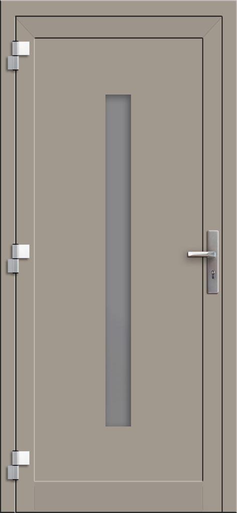 Hliníkové dvere so sklo-hliníkovou výplňou Evolution EV-954 (interiérový pohľad)
