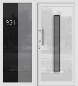Hliníkové dvere Evolution EV-954-A1 so svetlíkom