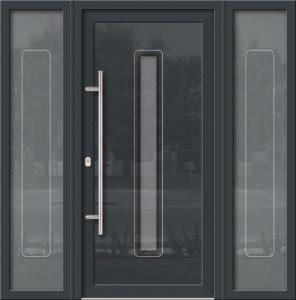 Hliníkové dvere Evolution EV-954-A2 so svetlíkom