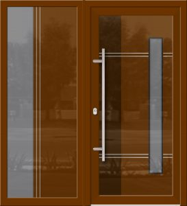 Hliníkové dvere Evolution EV-955-A1 so svetlíkom