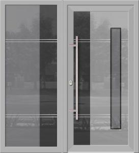 Hliníkové dvere Evolution EV-955-A2 so svetlíkom