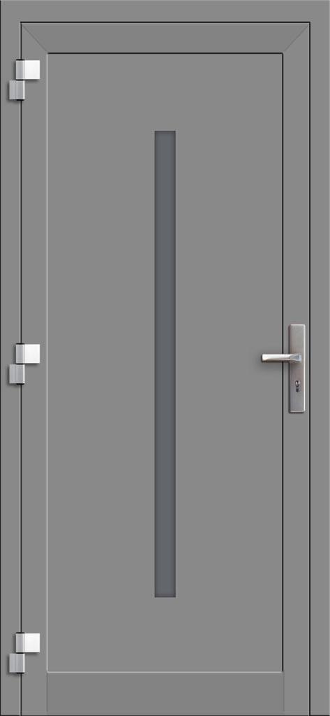 Hliníkové dvere so sklo-hliníkovou výplňou Evolution EV-956 (interiérový pohľad)
