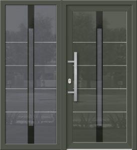 Hliníkové dvere Evolution EV-956-A2 so svetlíkom