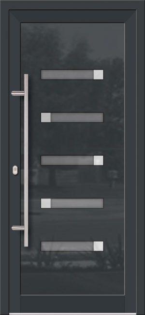 Hliníkové dvere so sklo-hliníkovou výplňou Evolution EV-958