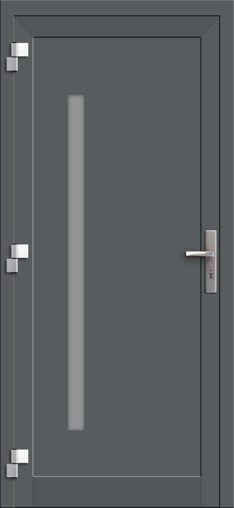 Hliníkové dvere so sklo-hliníkovou výplňou Evolution EV-959 (interiérový pohľad)