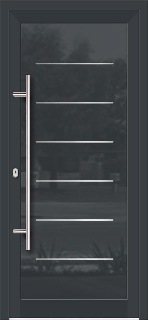 Hliníkové dvere so sklo-hliníkovou výplňou Evolution EV-961