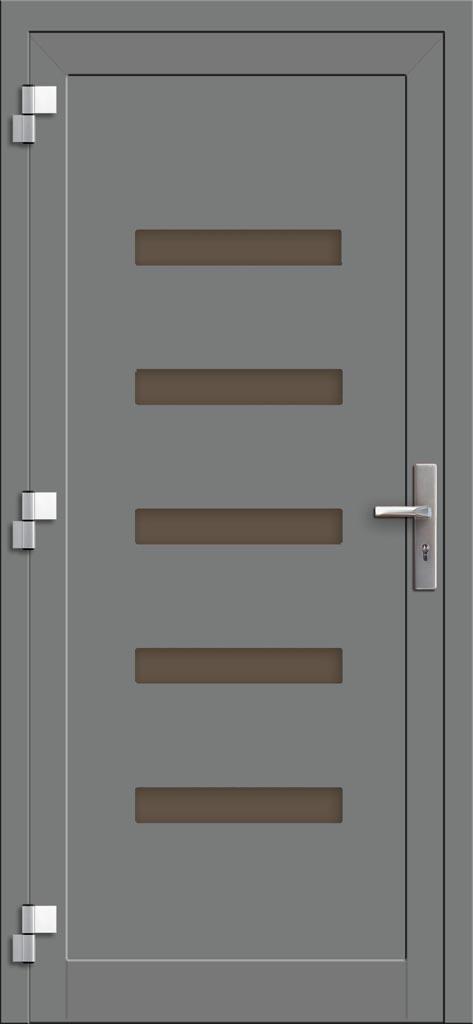 Hliníkové dvere so sklo-hliníkovou výplňou Evolution EV-963 (interiérový pohľad)