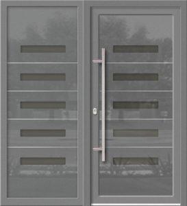 Hliníkové dvere Evolution EV-963-A1 so svetlíkom