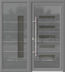 Hliníkové dvere Evolution EV-963-A2 so svetlíkom