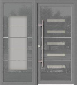 Hliníkové dvere Evolution EV-963-A4 so svetlíkom