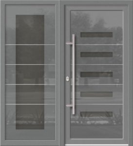 Hliníkové dvere Evolution EV-963-A3 so svetlíkom