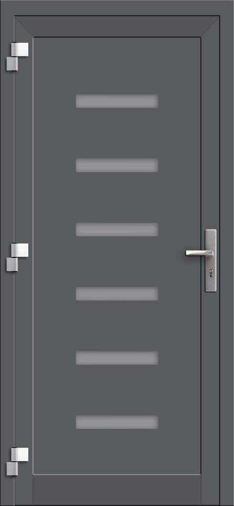 Hliníkové dvere so sklo-hliníkovou výplňou Evolution EV-964 (interiérový pohľad)