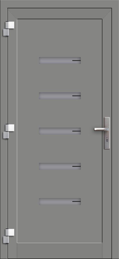 Hliníkové dvere so sklo-hliníkovou výplňou Evolution EV-965 (interiérový pohľad)