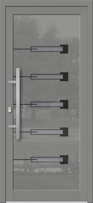 Hliníkové dvere so sklo-hliníkovou výplňou Evolution EV-965
