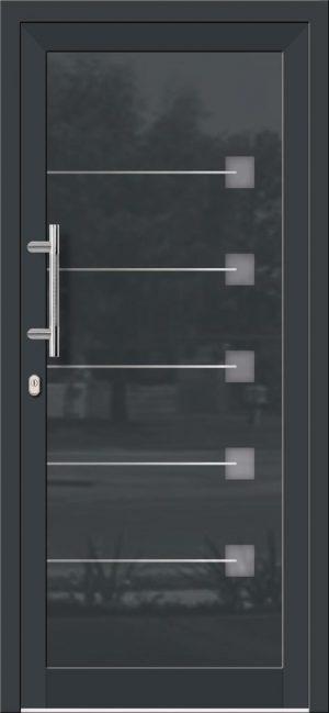Hliníkové dvere so sklo-hliníkovou výplňou Evolution EV-966