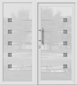 Hliníkové dvere Evolution EV-966-A1 so svetlíkom
