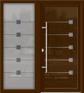 Hliníkové dvere Evolution EV-966-A2 so svetlíkom