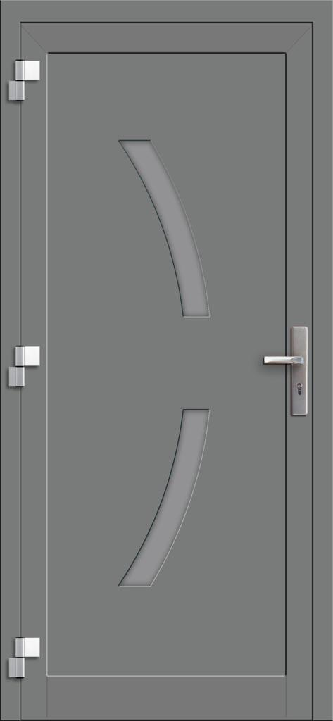 Hliníkové dvere so sklo-hliníkovou výplňou Evolution EV-967 (interiérový pohľad)