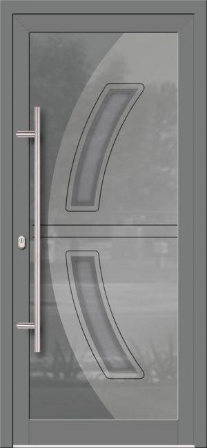 Hliníkové dvere so sklo-hliníkovou výplňou Evolution EV-967