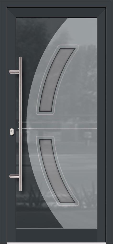 Hliníkové vchodové dvere do domu so sklo-hliníkovou výplňou Evolution EV-973