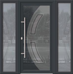 Hliníkové dvere Evolution EV-973-A1 so svetlíkom