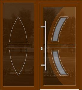 Hliníkové dvere Evolution EV-973-A2 so svetlíkom