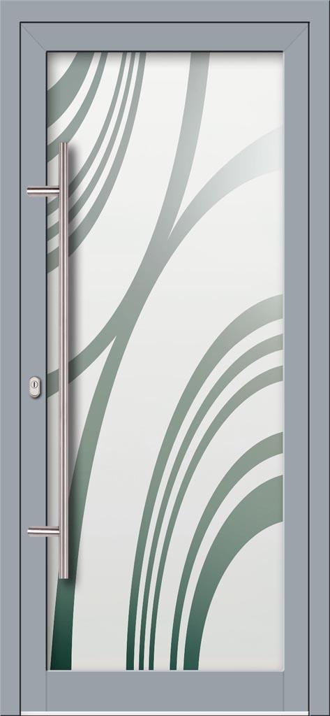 Hliníkové dvere s celosklenenou výplňou VV-850-GLP01 pieskované