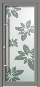 Hliníkové dvere s celosklenenou výplňou VV-850-GLP02 pieskované