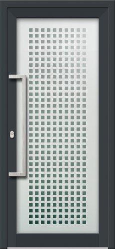 Hliníkové dvere s celosklenenou výplňou VV-850-GLP03 pieskované