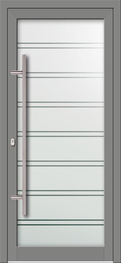 Hliníkové dvere s celosklenenou výplňou dvere VV-850-GLP04 pieskované