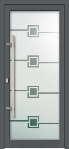 Hliníkové dvere s celosklenenou výplňou VV-850-GLP05 pieskované
