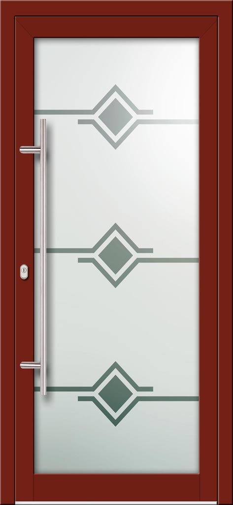 Hliníkové dvere s celosklenenou výplňou VV-850-GLP06 pieskované