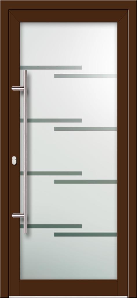 Hliníkové dvere s celosklenenou výplňou VV-850-GLP07 pieskované