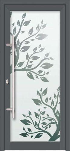 Hliníkové dvere s celosklenenou výplňou VV-850-GLP08 pieskované