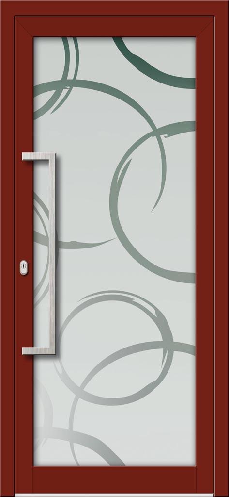 Hliníkové dvere s celosklenenou výplňou VV-850-GLP09 pieskované