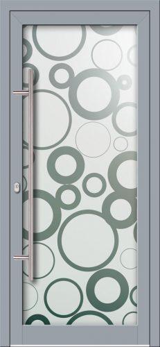 Hliníkové dvere s celosklenenou výplňou VV-850-GLP10 pieskované
