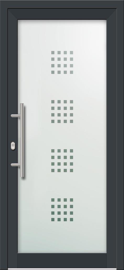 Hliníkové dvere s celosklenenou výplňou VV-850-GLP11 pieskované