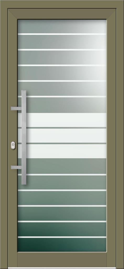 Hliníkové dvere s celosklenenou výplňou VV-850-GLP12 pieskované