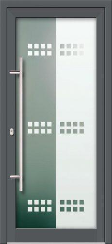 Hliníkové dvere s celosklenenou výplňou VV-850-GLP13 pieskované