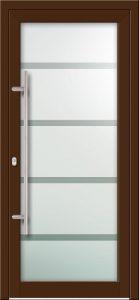 Hliníkové dvere s celosklenenou výplňou VV-850-GLP14 pieskované