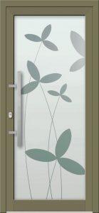 Hliníkové dvere s celosklenenou výplňou VV-850-GLP15 pieskované