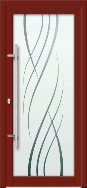 Hliníkové dvere s celosklenenou výplňou VV-850-GLP16 pieskované