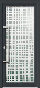 Hliníkové dvere s celosklenenou výplňou VV-850-GLP17 pieskované